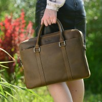 Large women's leather bag