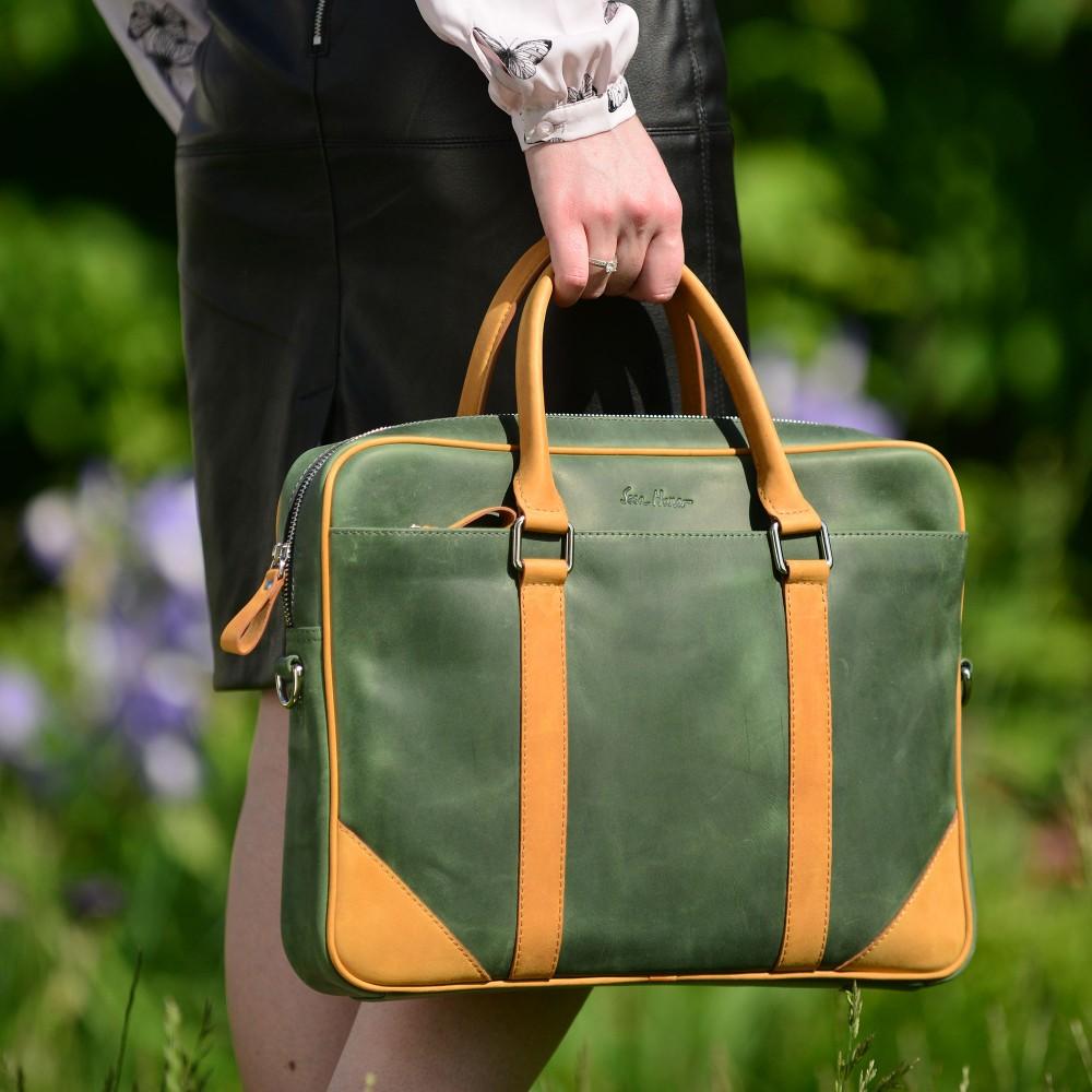 Большая женская  кожаная сумка