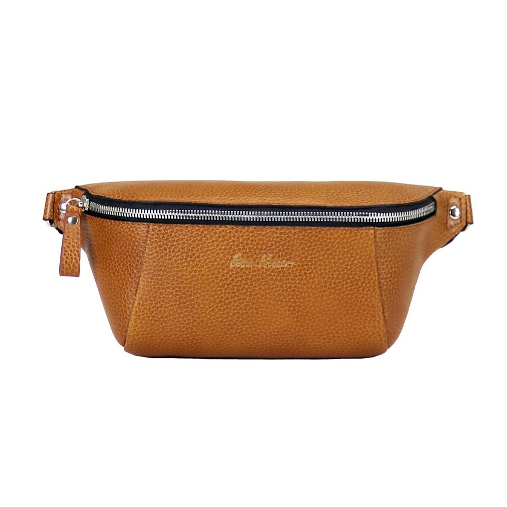 Кожаная сумка на пояс или плечо