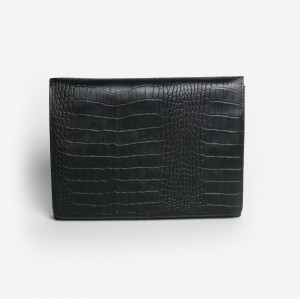 Clutch made of leather black