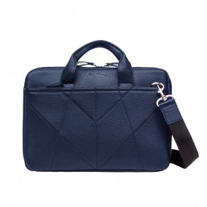 "Leather laptop bag 13 ""blue"