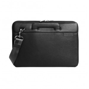 Leather laptop bag black macbook 13 ""