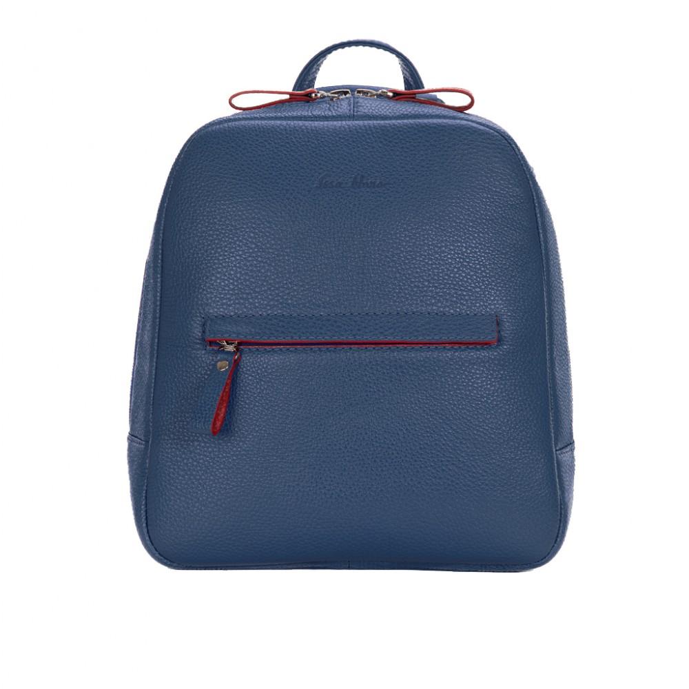Рюкзак кожаный женский синий