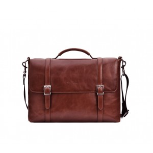 Leather briefcase for documents