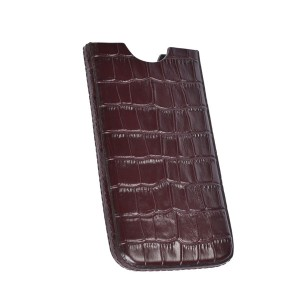 Leather case for iphone brown