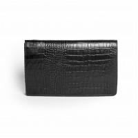 Черный кожаный клатч
