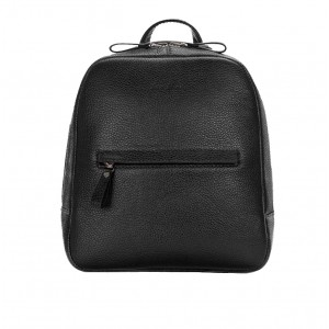 Backpack leather female black