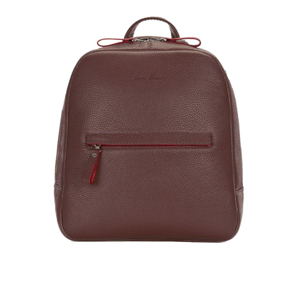 Рюкзак кожаный женский коричневый