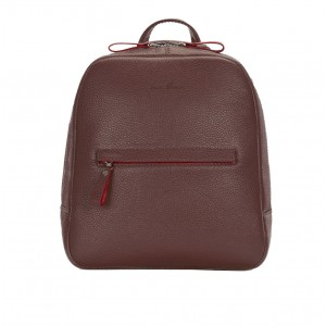 Backpack leather brown female