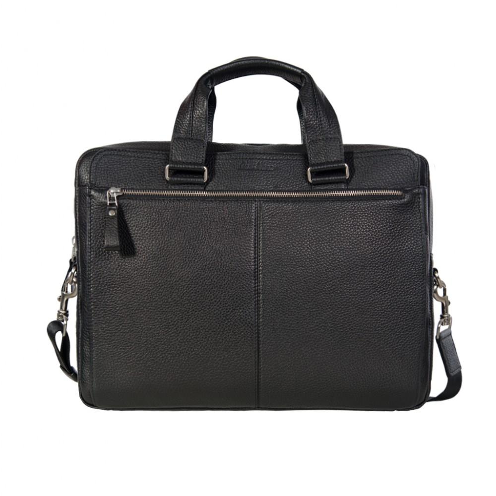Men's black leather bag