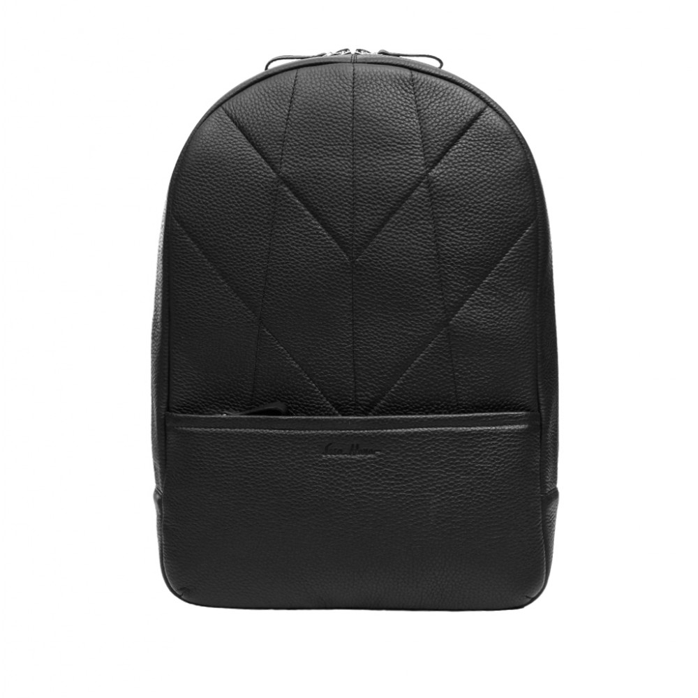 Men's leather backpack
