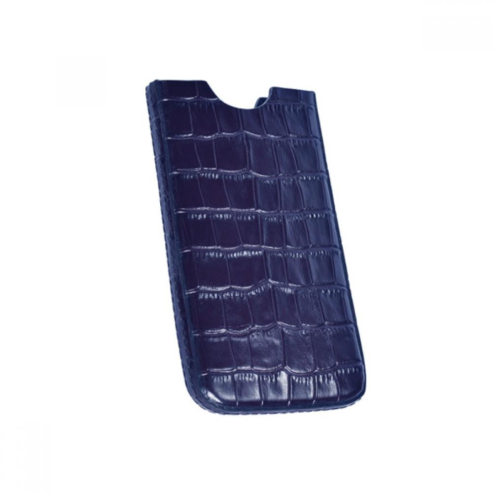Кожаный чехол для IPhone синий