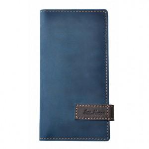 Clutch purse leather blue