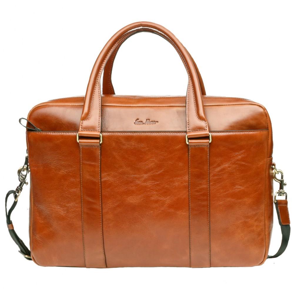 Велика чоловіча шкіряна сумка