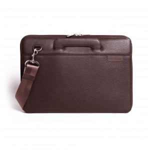 Leather laptop bag brown macbook 13 ""