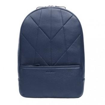 Чоловік шкіряний рюкзак синій