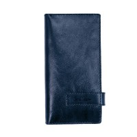 Clutch purse leather blue