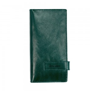Clutch purse leather green