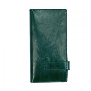 Клатч кошелек из кожи зеленый