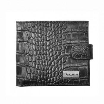 Мужской кошелек из натуральной кожи черный