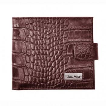 Мужской кошелек из натуральной кожи коричневый