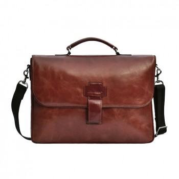 Male leather briefcase