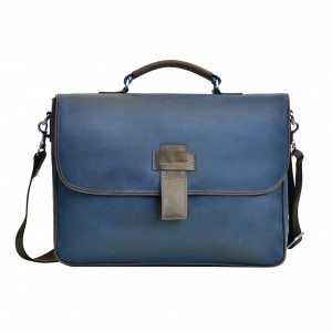 Vintage men's leather briefcase