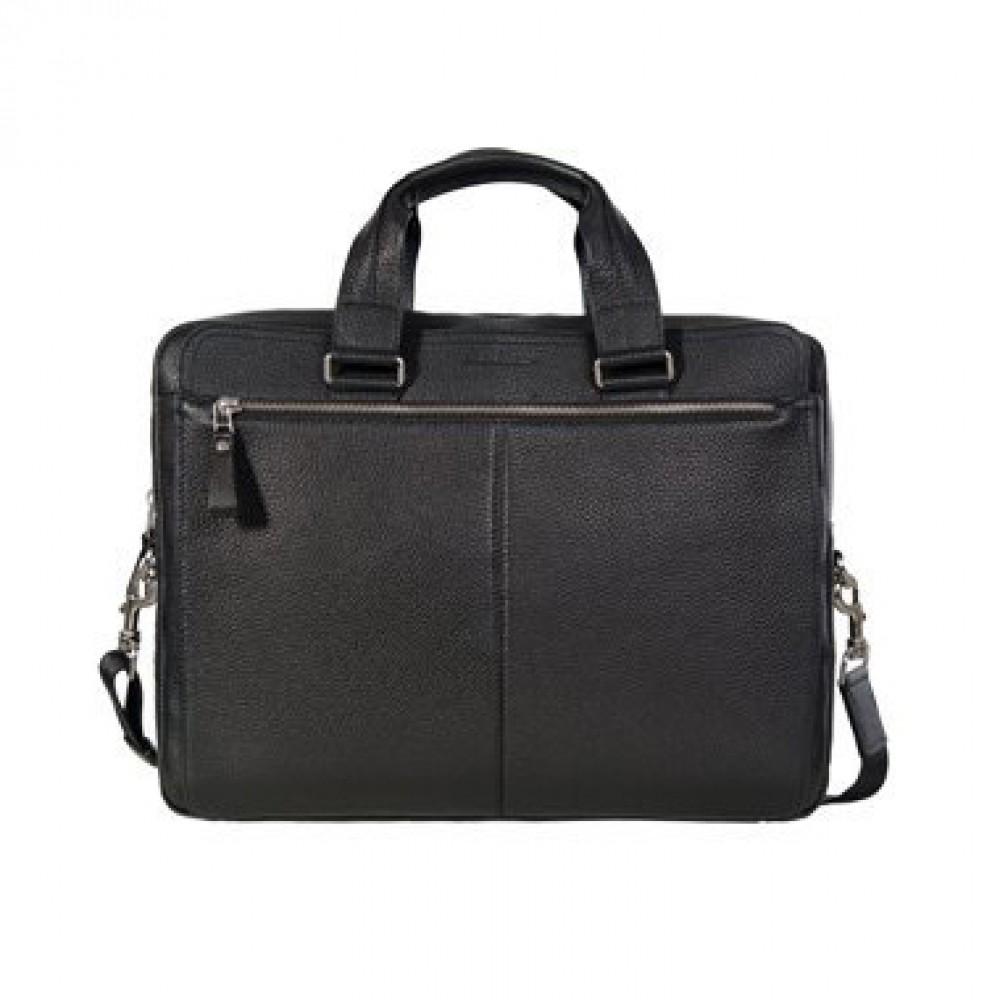 Мужская кожаная сумка черная
