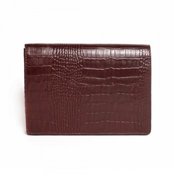 Clutch made of leather brown