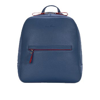Backpack leather female blue